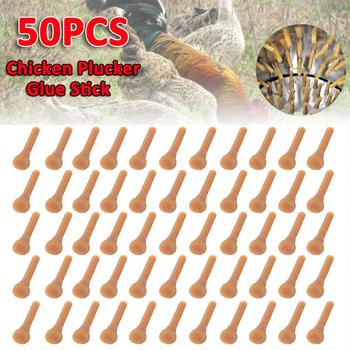 50 Pcs Poultry Rubber Rod Pigeon Quail Length 6.5cm Rubber Plucking Fingers Removal Machine Glue Stick Plucker best price 220v 700w commercial chicken plucking machine with 30cm bucket duck chicken plucker poultry plucker for sale