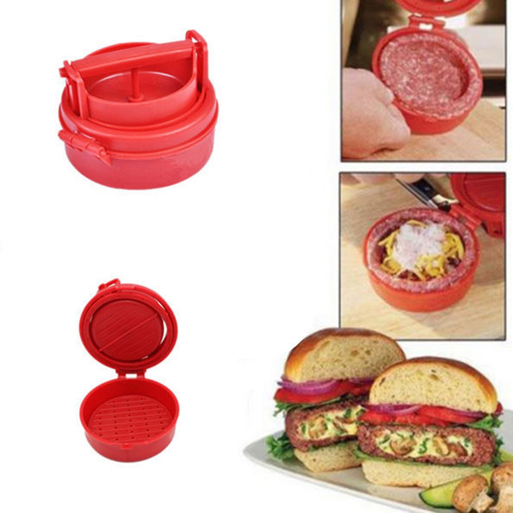 Burger Press Hamburger Meat Maker Manual Hamburger Meat Press Veggie Burgers Make Turkey Chicken Endless Combos image