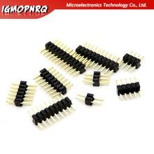 1.27mm 1.27 Pin Header Single Row Male Breakaway PCB Board Connector Pinheader 1*2/4/5/6/8/10/12/15-40p 50p For Arduino