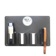 Tondeuse à cheveux, outils professionnels de coiffeur à haute température mallette de rangement, accessoires de coiffure pratiques, support de support pour tondeuse
