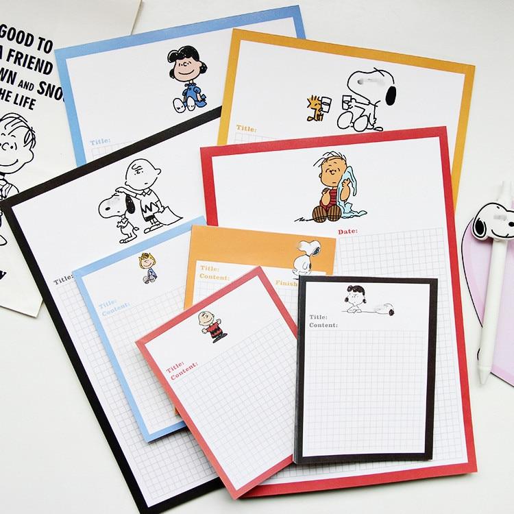 30 Sheets Ins Cute Cartoon Puppy Girl Grid Memo Pad Plan Book Korea Student Diary Notebook Hand Account Kawaii School Stationery