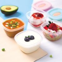4PCS Transparent Food Storage Box Refrigerator Sealed Fruit Food Containers Airtight Kitchen Food Dessert Storage Container Sets|Bottles Jars & Boxes| |  -