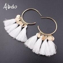 2019 Vintage Ethnic Bohemia Drop Dangle Long Rope Fringe Cotton Tassel Earrings Trendy Sector Earrings For Women Fashion Jewelry цена
