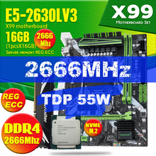 X99 DDR4 2 DIMM D4 Motherboard Set with Xeon E5 2630L V3 LGA2011-3 CPU 1 * 16GB = 16GB PC4 RAM 2666MHz DDR4 Memory RAM REG ECC