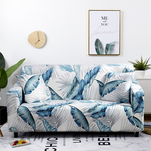Image 1 - Nordic Leaf Pattern Sofa Cover Cotton Elastic Stretch Couch Cover  Universal Sofa Covers for Living Room Pets Single Home Decor
