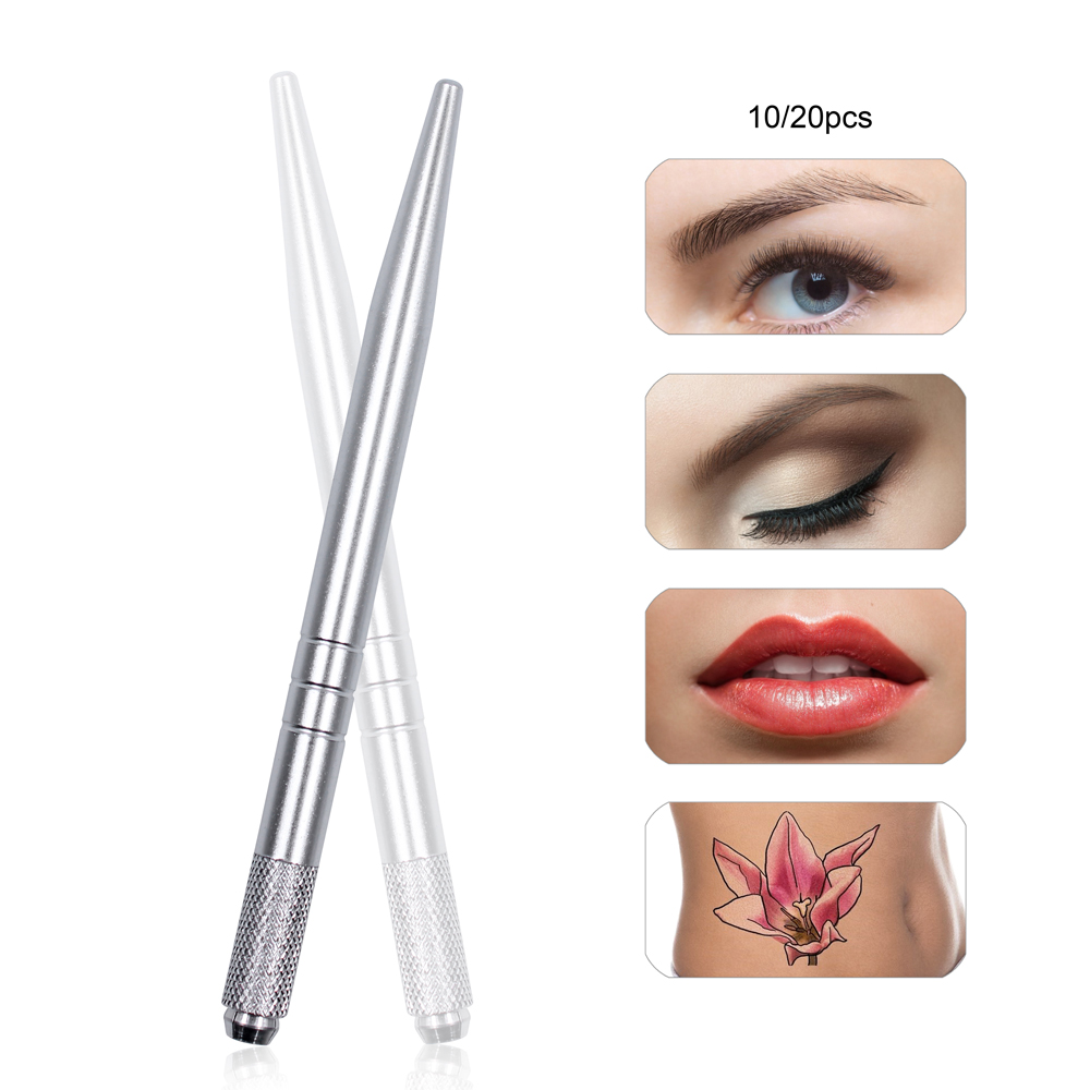 10/20pcs Microblading Pen Lightweight Manual Microblade Needle Holder Caneta Tebori Microblading Eyebrow Tattoo Pen Autoclave