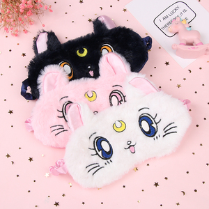 1Pc Cartoon Cute Cat Panda Eye Mask Blackout Rest Sleep Comfortable Soft Padded Shade Cover Travel Relax Blindfold Nap Eye Patch