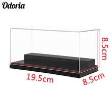 Акриловый дисплей с 2 шагами, чехол/коробка, чехол для показа Perspex, пылезащитный чехол для модели автомобилей, экшн фигурки, коллекционные игрушки, 19,5x8,5x8,5 см