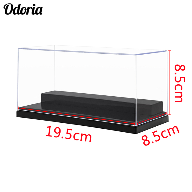 Odoria  (19.5x8.5x8.5 cm) Acrylic Display 2 Steps Case/Box Perspex ShowCase Dustproof For Model Cars Action Figures Collectibles