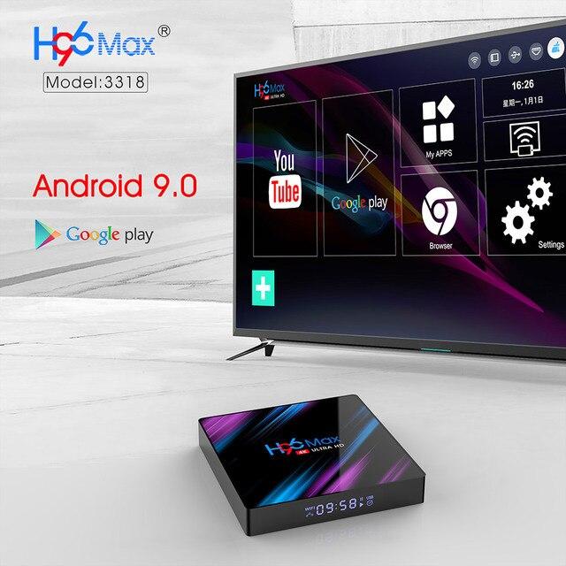 H96 MAX Smart TV Box Android 9.0 RK3318 4GB RAM 64GB ROM 32G 4K WiFi Media Player Google Voice Netflix Youtube 1G8G Set Top BOX 4