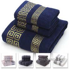 100% хлопок набор полотенец для ванной комнаты геометрический узор банное полотенце для взрослых полотенца для лица и рук полотенце махровая...