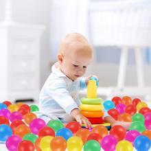 100 шт./лот, экологически чистый красочный шар, мягкий пластиковый Океанский шар, забавная игрушка для купания, детский бассейн, Океанский волнистый шар диаметром 4 см