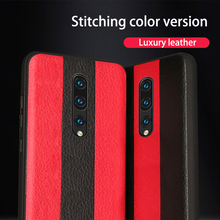 Luxury Car Phone Case For Oneplus 7 Pro 6 6T Litchi Leather TPU Soft Edge Silicon Shockproof Cover Capa Coque