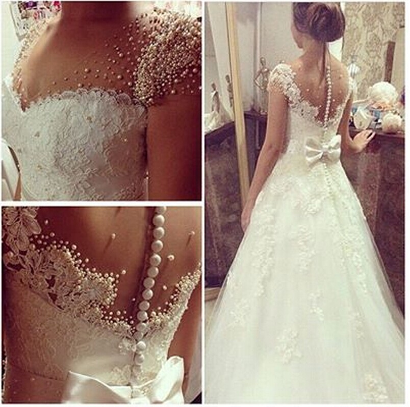 Cap Sleeves Full Pearls Wedding Nice Back Customer Order Real Pictures New Hot Sexy See Through Back Bow Mother Of Bride Dresses