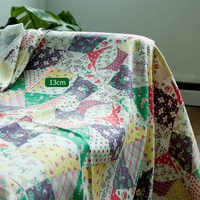 Cotton and linen printed fabric clothing manual diy bag patchwork fabric windmill flowers