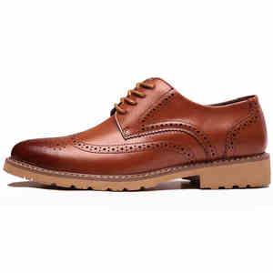 Image 3 - קלאסי גברים מבטא אירי נעלי יוקרה בריטי שמלת נעלי עסקים בולוק עור נעליים באיכות גבוהה זכר הנעלה 2019 Dropshipping