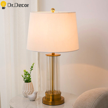 Nordic Gold Luxury LED Table Lamp Bedroom Bedside Lamp Table Lamps for Desk Chinese Classical Lamp Reading Lighting Desk Lamp horsten nordic modern creative gifts foldable robot desk table lamps wooden base table lamp bedside reading desk lamp home decor