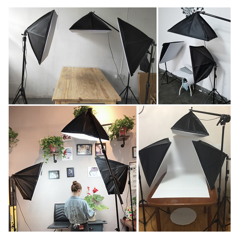Image 5 - Photography Studio Softbox Lighting Kit Arm for Video & YouTube Continuous Lighting Professional Lighting Set Photo Studio-in Photo Studio Accessories from Consumer Electronics