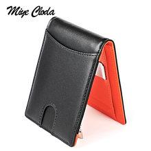 Мужской бумажник из США кожаный тонкий мужской кошелек для долларов
