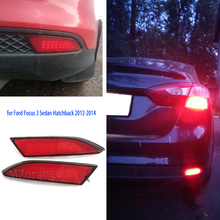 For Ford Focus 3 Sedan Hatchback 2012-2014 LED Rear lights rear Bumper Brake Light stop Lamp tail taillights