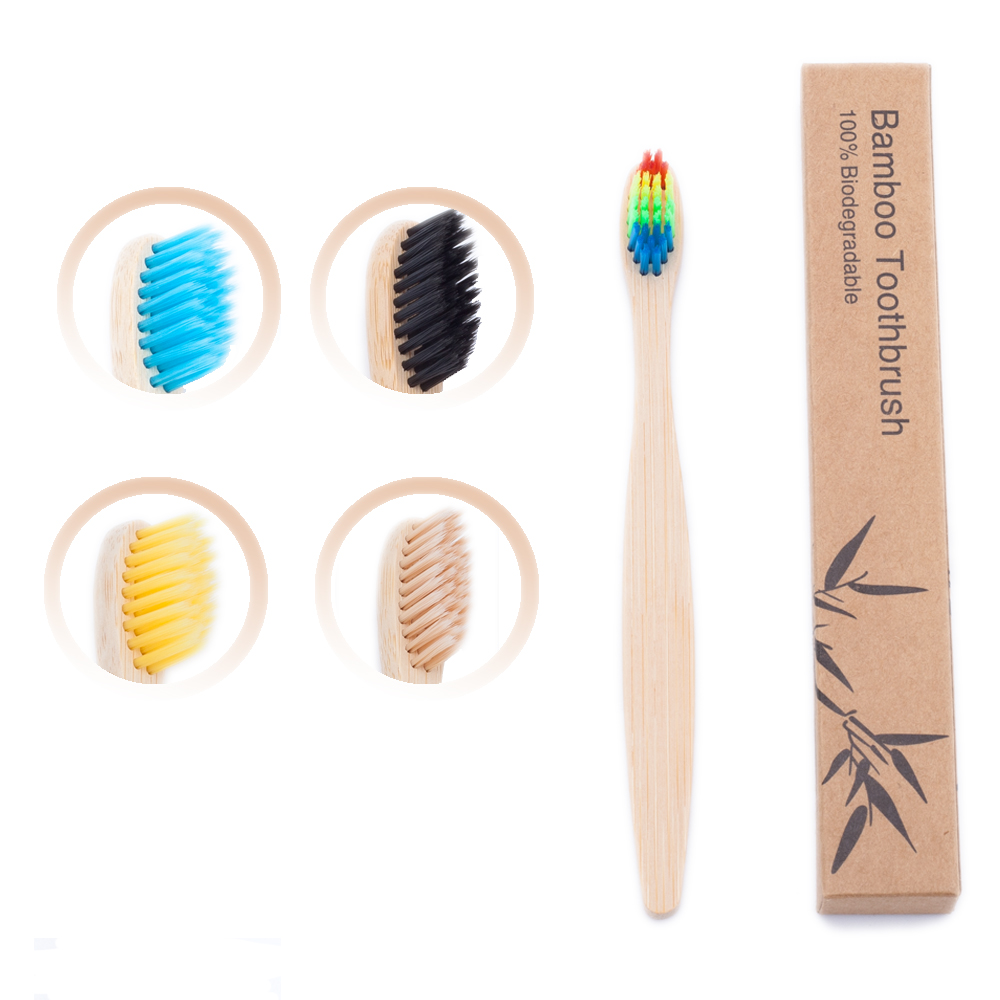 1pcs Kids Bamboo Toothbrush Eco Friendly Children Toothbrush Natural Charcoal Tooth Brush Bamboo Wooden Handle Teethbrush image