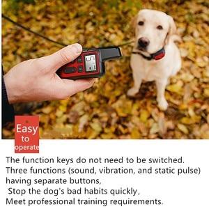 Image 4 - 500M szkolenia psów kołnierz Pet elektryczny zdalny obroża do kontroli wodoodporny akumulator szkolenia psów przyrząd szkoleniowy z wyświetlaczem LCD 30% taniej