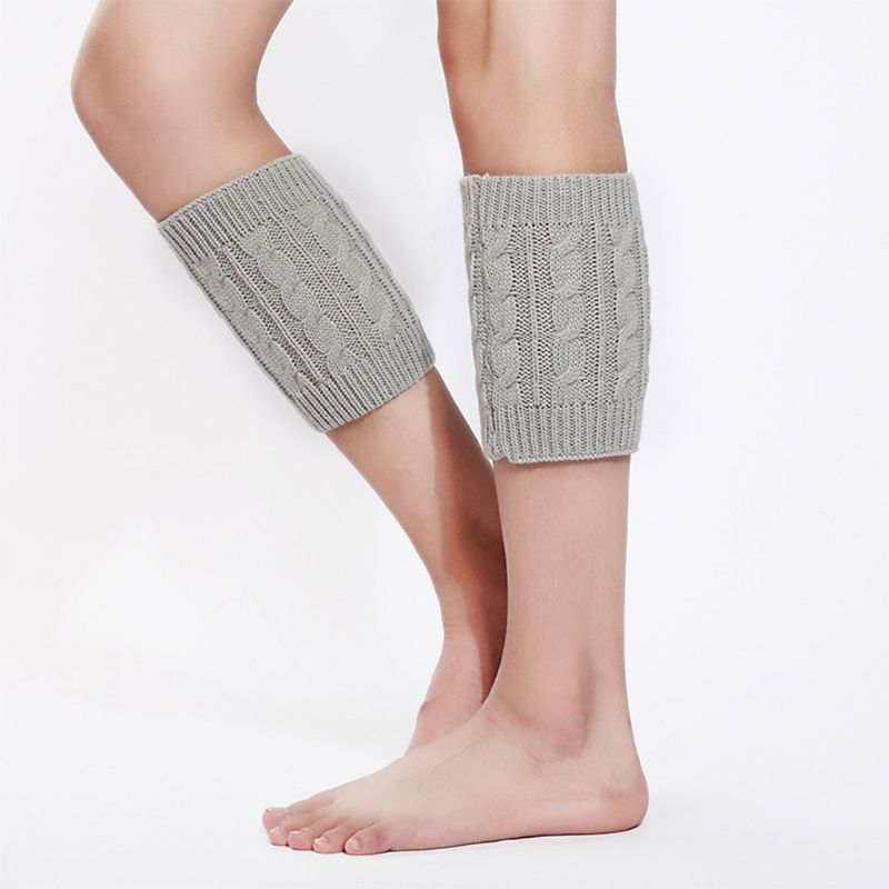 1 Pair Women Girls Winter Autumn Cable Knitted Boot Cuffs Short Leg Warmer Socks M68A