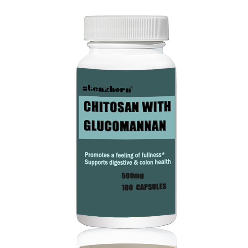 CHITOSAN WITH GLUCOMANNAN Promotes A Feeling Of Fullness* Supports Digestive & Colon Health