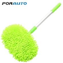 Forauto lavagem do carro mop janela ferramenta de lavagem poeira cera mop macio cuidado automático detalhando ferramentas limpeza acessórios do carro ajustável