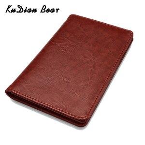 KUDIAN BEAR, Обложка для паспорта, кожаный держатель для паспорта, Мужской Дорожный кошелек, держатель для кредитных карт, чехол для документов, ...