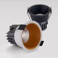 Luces LED empotradas COB antideslumbrantes, regulables, 9W/12W/15W, foco de techo, lámparas de fondo, iluminación interior, AC85 ~ 265V
