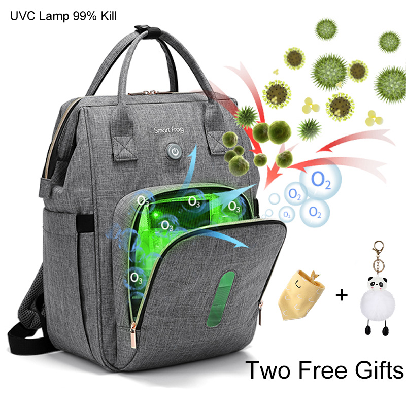 UVC Disinfection Large Capacity Baby Diaper Bag Backpack Bags Organizer For Mummy Maternity Baby Bag For Mom Stroller Diaper Bag