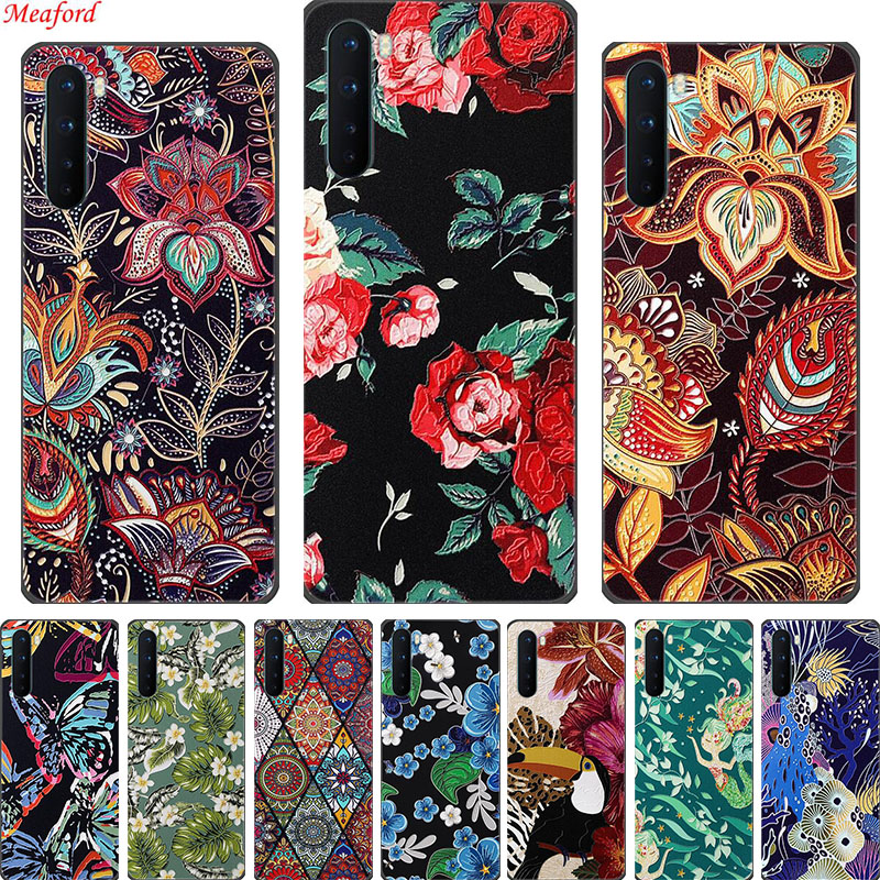 """Coque For OnePlus Nord Case 6.44"""" 3D Flower Emboss Silicone Back Cover Soft Phone Case For OnePlus Nord Case One Plus Nord Funda"""