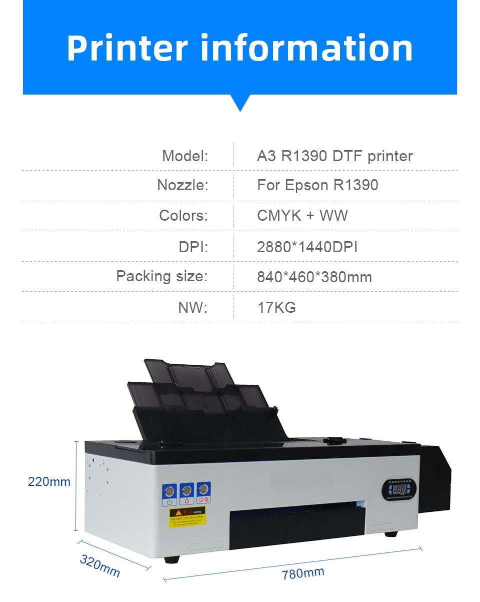 dtf impressora transferência diretamente filme impressão imprensa