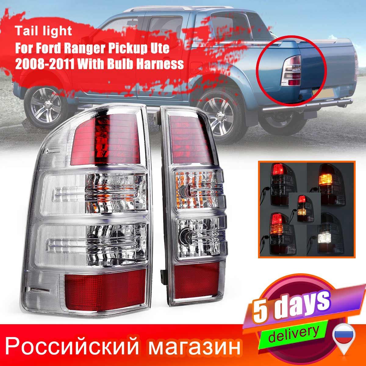 Left/Right LED Tail Light Brake Lamp For Ford Ranger Pickup Ute 2008 2009 2010 2011 With Harness Bulbs Tail Light Assembly