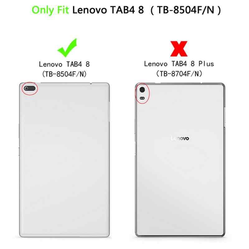 حافظة لجهاز لينوفو تاب 4 8 بوصة TB-8504F لوحي/8504N 8 بوصة تابلت 2017 الإصدار مع حامل PU حافظة حماية جلدية