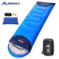BSWOLF Camping Schlafsack Ultraleicht Wasserdicht 4 Saison Warme Umschlag Rucksack Schlafsack für Outdoor Reisen Wandern
