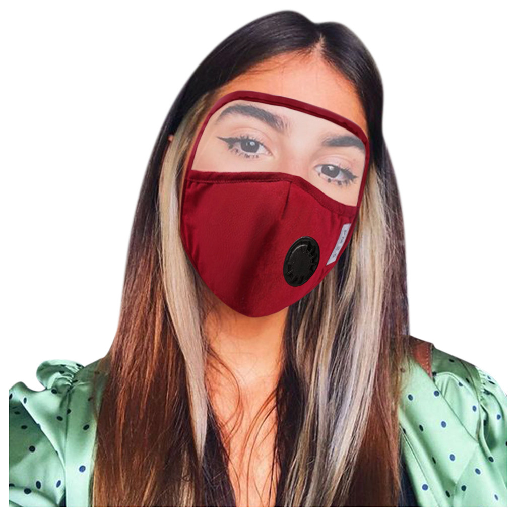 Mascarilla Scarf Mask For Face 2020Top Protective Cotton Mask Integrated With Goggles Mask With Breathing Valve Máscara Maschera 1