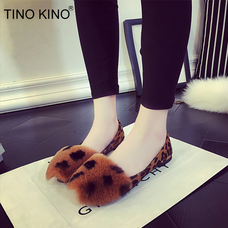 Autumn Loafers Footwear Moccasins Casual-Shoes Slip On Comfort Leopard Ladies Flat Fashion