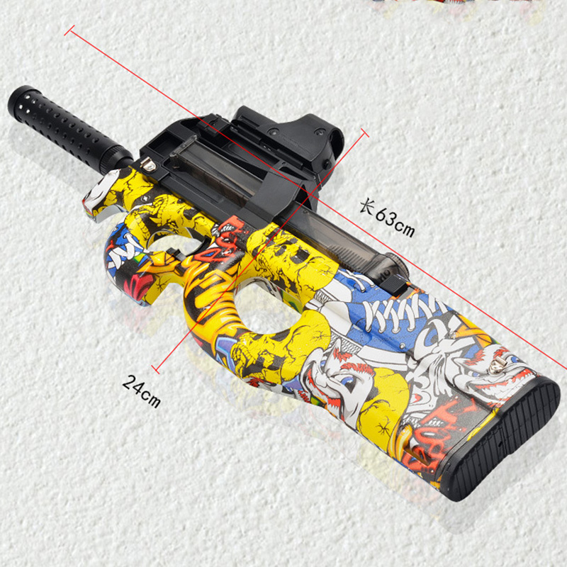 Electric Water Gun P90 Graffiti Boys Gifts Shoot Hydrogel Gel Ball Polymer Water Toy Outdoor CS Game Sniper Toys For Children