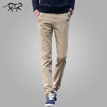 Pantalon pour hommes, nouvelle collection 2018 coton, longue, droite, kaki, Slim, costume daffaires, grande taille, modèle pantalons décontractés