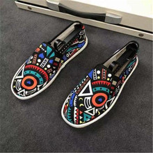 İlkbahar sonbahar erkek daireler erkek ayakkabı rahat erkek vulkanize ayakkabı Slip On erkek ayakkabısı kauçuk mokasen yuvarlak ayak yeni moda tuval