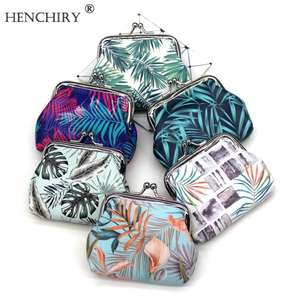 Multi-color Small fresh leaf coin girl purse Design Coin Money Bag cute student small purse For Women Girl Lady children Gift
