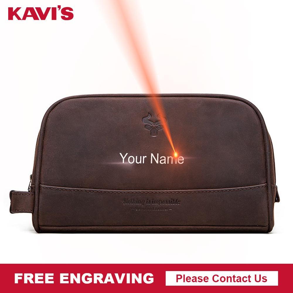 KAVIS Crazy Hoser Handbag Men For Briefcase Male Crossbody Hand Sling O Handles Tote Shoulder Bolsas Hand Bag Engraving Name