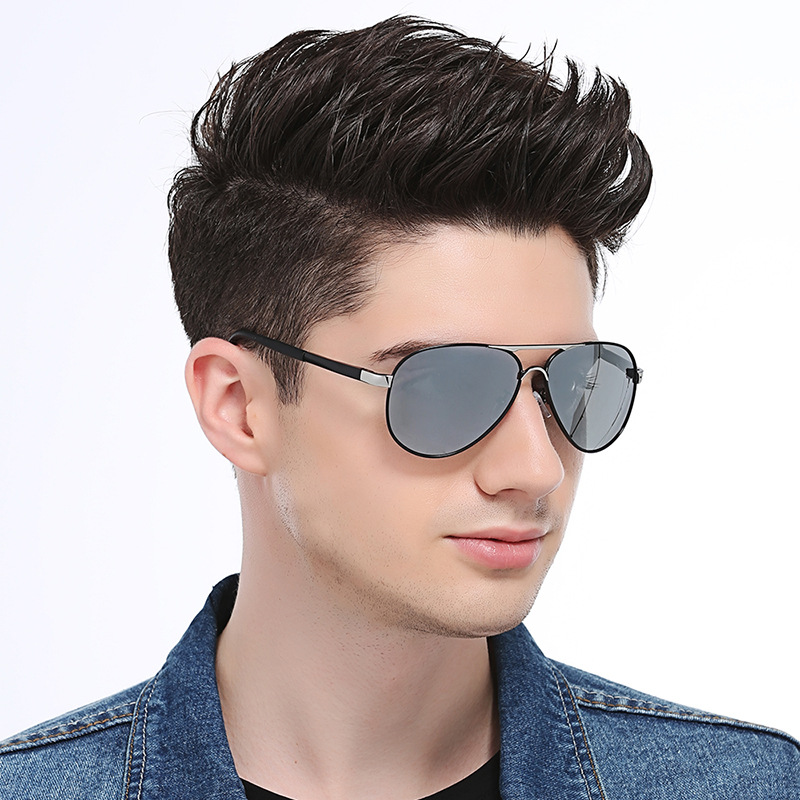 Men's Classic Polarized Sunglasses Spring Leg Retro Toad Mirror Can Be Equipped with Myopia Glasses