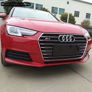 Image 1 - A4 B9 Modified S4 Style Chrome Emblem Front Bumper Engine Grill Grids for Audi A4 B9 S4 RS4 Sline 2016 2017 2018 2019