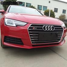 A4 B9 Đổi S4 Phong Cách Chrome Quốc Huy Trước Động Cơ Nướng Lưới Cho Xe Audi A4 B9 S4 RS4 Sline 2016 2017 2018 2019