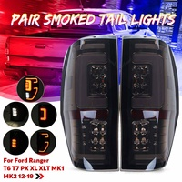 1 Pair Tail Light LED Smoked Shell Car Light Rear Brake Lamp for Ford Ranger For Raptor T6 T7 PX XL XLT MK1 MK2 2012 2019