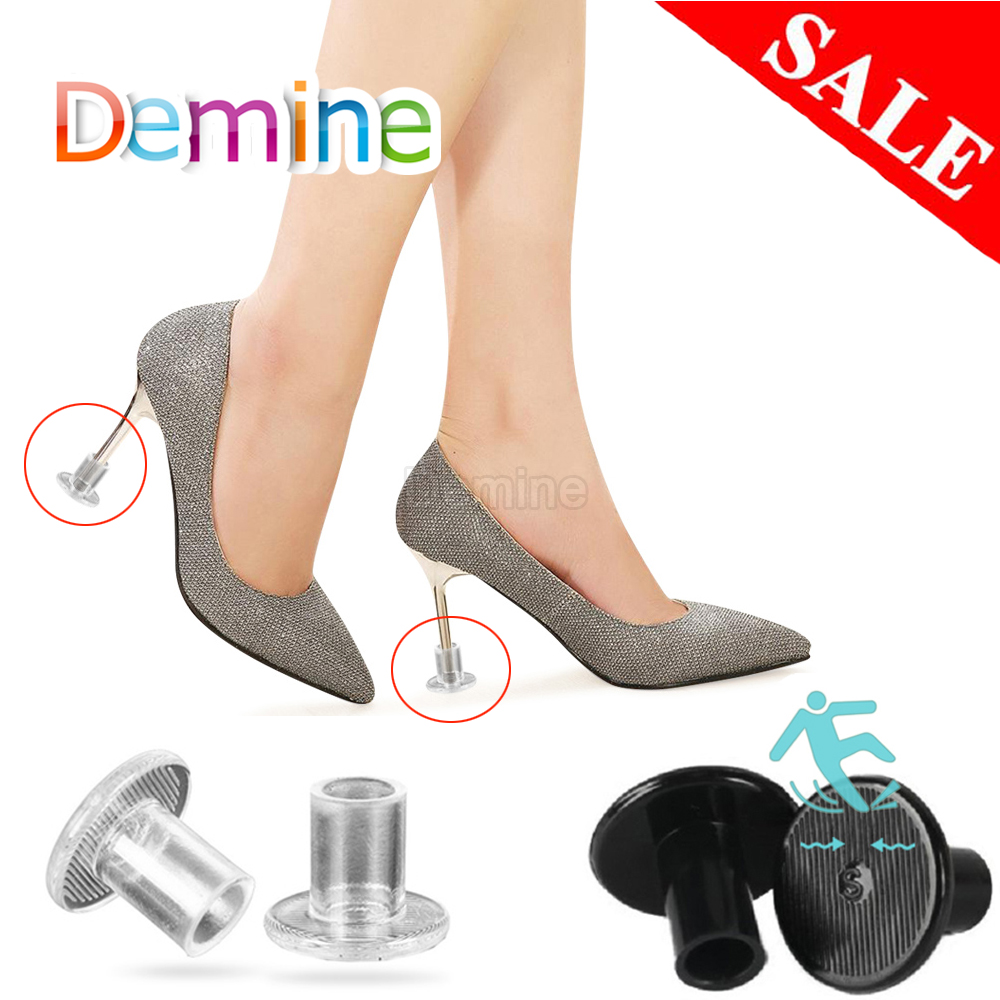 Demine High Heel Protectors Replacement Tip Caps Anti-slip Heel Stoppers Shoes Care Kit  Women Shoes Heels Wedding Latin Dancing