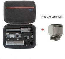 Osmoポケットバッグポータブルケーススペア部品の収納ボックス防水dji osmoポケットケースと無料ギフトレンズカバー
